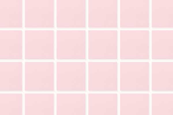 ピンクタイルに白目地