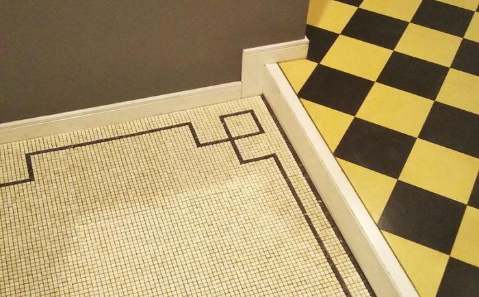 玄関床-大理石モザイク-施工例写真