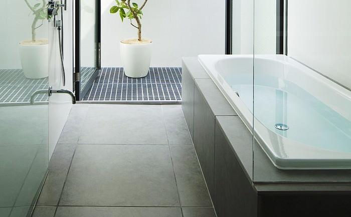 浴室床 600角タイルのイメージ
