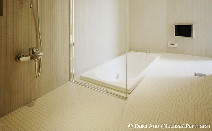 浴室床モザイクタイルのイメージ