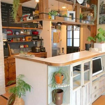 タイル貼りのキッチンカウンター完成