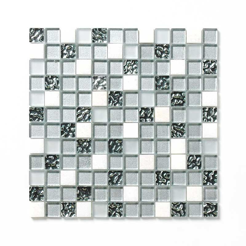 ガラス&大理石ミックスモザイク スタンダードグラス 23角