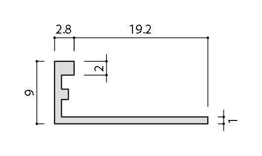 リクシル(INAX) 装飾見切り材(壁用) 壁見切り8L SM-2700L/MB-8(ブラック)