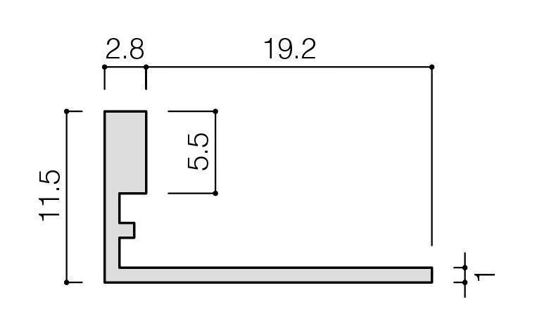リクシル(INAX) 装飾見切り材(壁用) 壁見切り10L SM-2700L/MB-10N(ブラック)