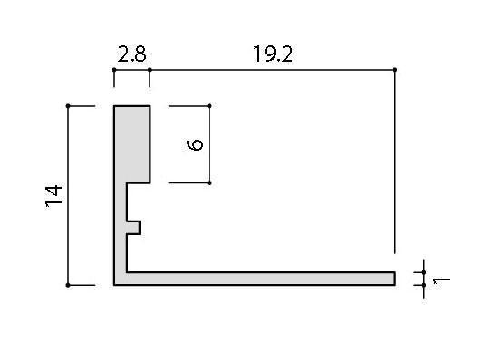 リクシル(INAX) 装飾見切り材(壁用) 壁見切り13L SM-2700L/S-13(シルバー)