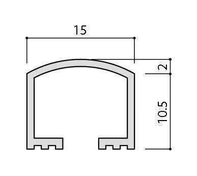 リクシル(INAX) 装飾見切り材(壁用) 壁見切り15U SM-2700U/PG-15(ゴールド)