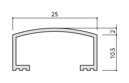 リクシル(INAX) 装飾見切り材(壁用) 壁見切り25U SM-2700U/PG-25(ゴールド)