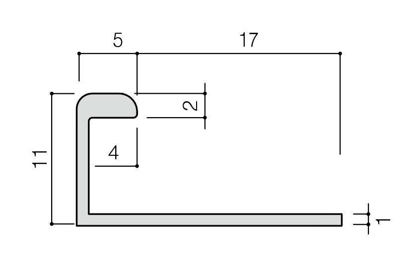 リクシル(INAX) 装飾見切り材(壁用) 壁見切り7J SM-2700J/W-7(ホワイト)